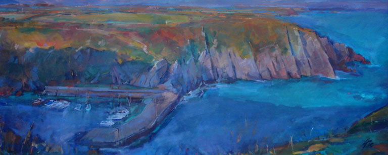 Porthclais by artist Tony Kitchell, holiday cottage on coast